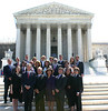 US Bar Members with their guests on the front steps of the US Supreme Court Building