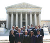 New Members of the US Bar in Front of US Supreme Court Building:<br /> Front row (l-r): Lauren Campisi, Dean Richard Gershon, David Wheeler, Candy Wheeler and Drew Wheeler<br /> Middle row (l-r): Jason Bone, Tom Womble, Tom Davis and Jamie White<br /> Back row (l-r): Wesla Sullivan Leech, Aleita Sullivan, Ritchie Miller and Kevin Frye