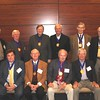 Legal Legacy medallion recipients this year include (front row l-r): John Arthur Eaves (LLB 63), Ted Jones (LLB 63), Herbert Stelly (LLB 63) and Sandy Sams (LLB 63). (back row l-r): George Shaddock (LLB 63), Harold Barkley (LLB 63), Jim Herring (LLB 63), Joe Meadows (LLB 63), Ottis Crocker (LLB 62) and Walter Gex (LLB 63).