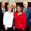 From left to right the 2013 Law Hall of Fame honorees include Hon. Trent Lott, Herbert E. Dewees (represented by Dixie Dewees), Pat H. Scanlon, Constance Slaughter-Harvey and William Hamilton Watkins (represented by Bill Goodman.