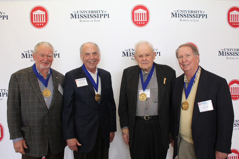 Legal Legacy medallion recipients in 2014 were Walter Blessey IV (LLB 64), Scotty Welch (LLB 64), Lucius Dabney (LLB 49) and Roger Flynt (LLB 64)