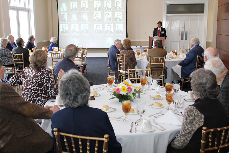 Law Alumni Chapter president Floyd Melton III presides over the Legal Legacy Luncheon for graduates who have been out of law school for 50+ years.