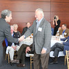 Dean Gershon presents the Legal Legacy medallion to Walter Blessey IV (LLB 64)