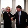 Chancellor Dan Jones greets IHL member Dr. Ford Dye