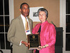 Dean Barbara Wells with 2009 Distinguished Alumnus Clarence DuBose (BSPh 75)