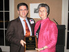 Dean Barbara Wells with 2009 Distinguished Alumnus David Gregory (BSPh 84, Pharm.D. 99)