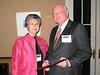 Dean Barbara Wells with 2009 Distinguished Alumnus Dr. George Burdock (Ph.D. 80)