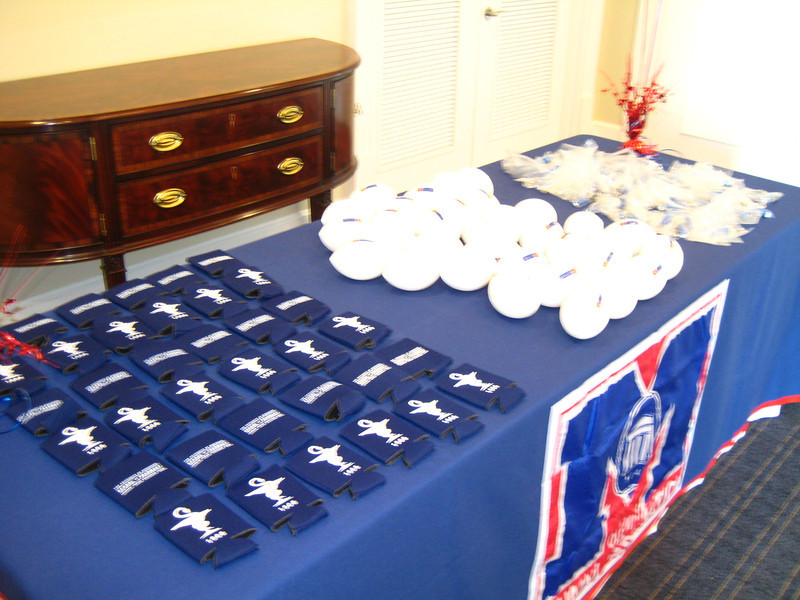 Giveaway items at the Pharmacy Alumni Chapter reception