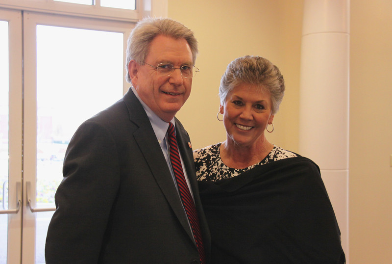 Chancellor Dan Jones and his wife, Lydia