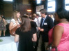 Dr. Phil Ayers speaks with students and alumni at the Pharmacy Alumni Chapter's reception at MSHP