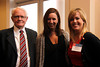 (l-r) Richard Wells, Associate Dean Leigh Ann Ross and Development Officer Raina McClure
