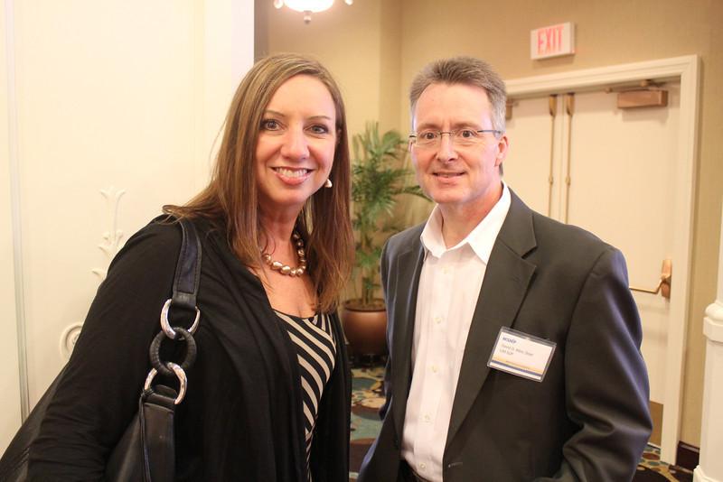 Associate Dean Leigh Ann Ross (BBA 93, PharmD 98) and Dean David Allen