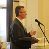 Dean David Allen addresses reception attendees