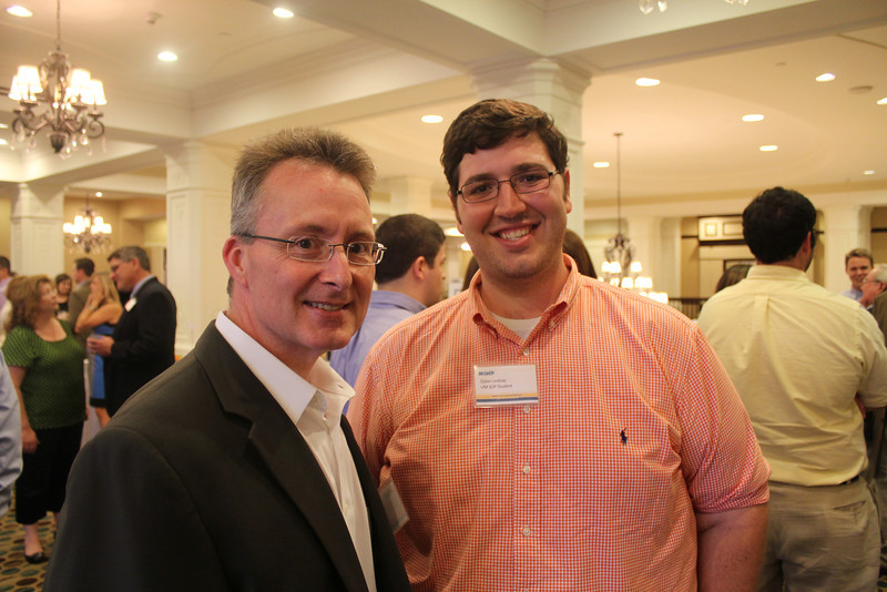 Dean David Allen with professional student Dylan Lindsay (BSPhSc 11)