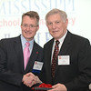 Dean Allen congratulates Frank Gammill (BSPh 63) on 50 years of achievement