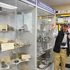 Pharmacy school staff member Don Stanford provides alumni and friends a tour of the marijuana research facility.