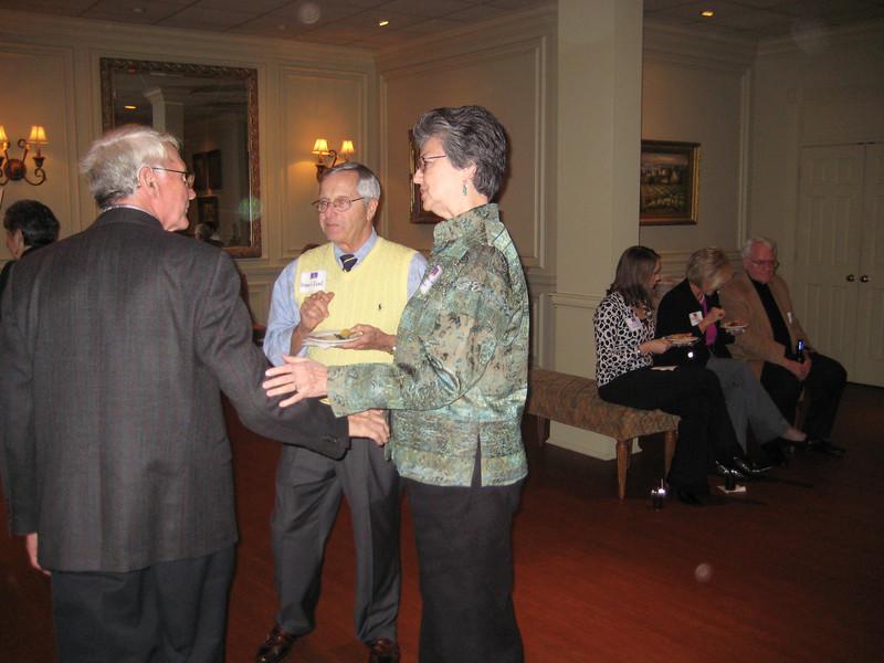 Dean Barbara Wells visits with alumni