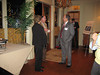 Faculty member, Dr. Marvin Wilson, visits with alumni