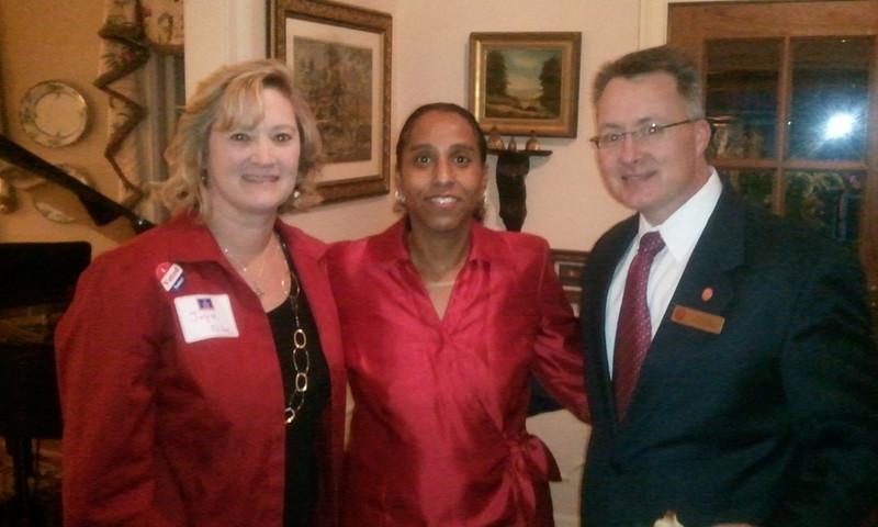 Joyce Folse, Marie Chisholm-Burns (Univ. of TN School of Pharmacy Dean) and Dean David Allen