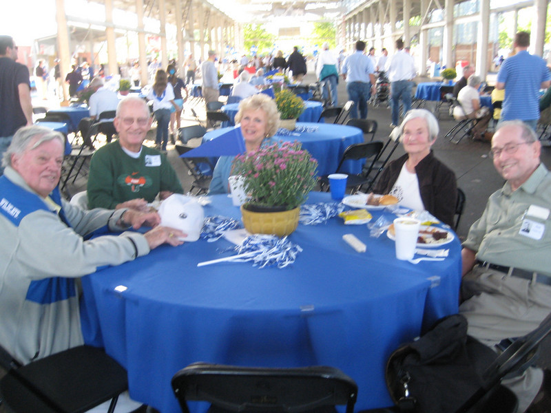 Alumni enjoy the pre-game festivities at the Reunion Tailgate.