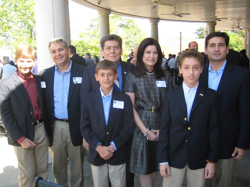 Dr. Alberto McGregor (center), a 2010 Alumni Achievement Award winner, with his family at the Alumni & Faculty Reception.