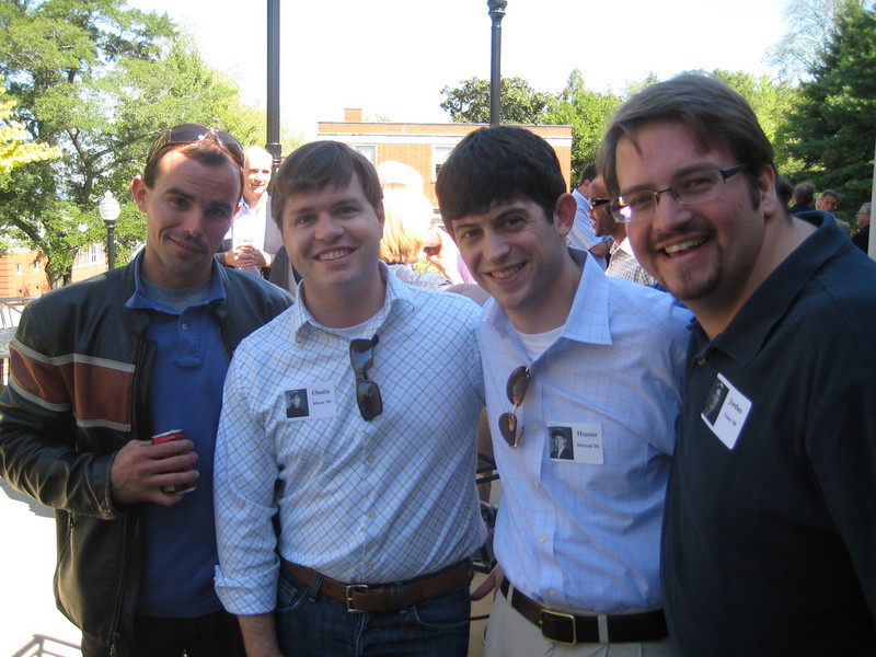 A few members of the Class of 2000 enjoy the Alumni & Faculty Reception on Saturday, Oct. 2.