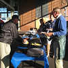 Loading up on barbecue at the Reunion Tailgate.
