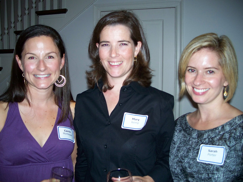 Carrie Montague, Mary Kemp and Sarah Porter