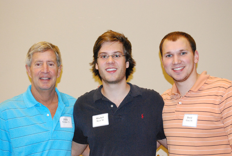 Jimmy Welborn '73, Mitchell Meek '10 and David Clark '09