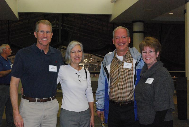 Rick Barger '67, Harriet Barger, Bill Colvin '69, Jane Colvin