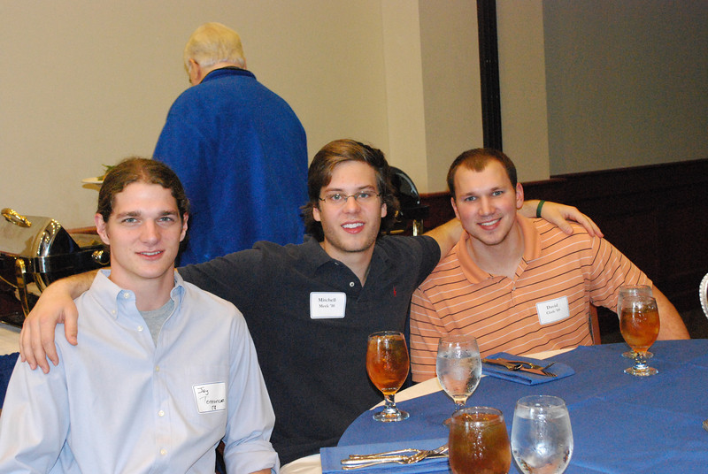Jay Torrance '08, Mitchell Meek '10 and David Clark '09