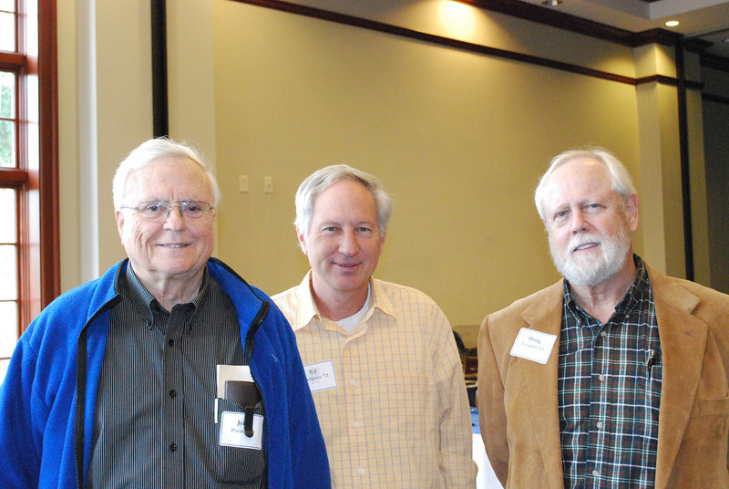 John Pataky '49, Ed Snodgrass '73 and Doug Tamplin '64