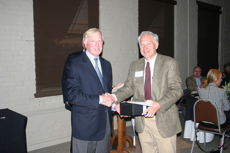Rev. Ed Snodgrass '73 was honored for his 25 years of teaching at McCallie.