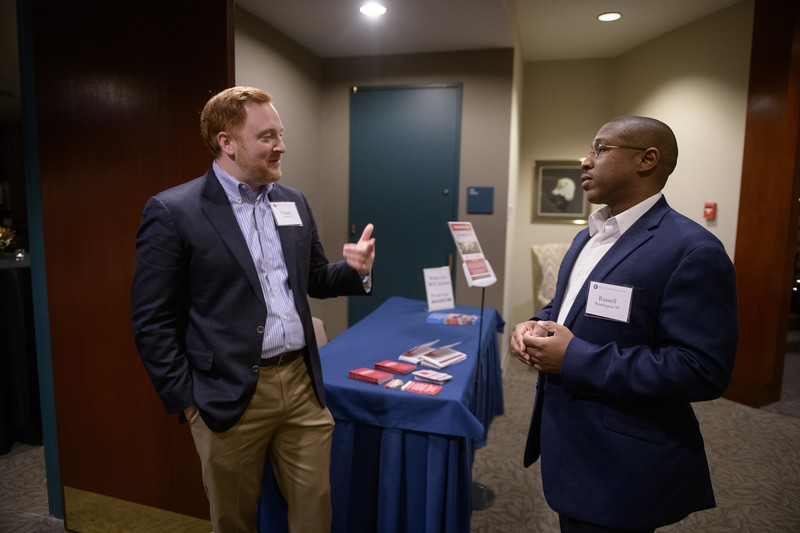 November 29, 2017. Atlanta, GA. Exeter Association of Georgia reception at the Carter Center in Atlanta, GA. Photo by Michael A. Schwarz.