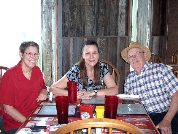 Photo thanks to Roberta Mueller~With David and Lois Reid at the Riverhouse Restaurant in Atchison