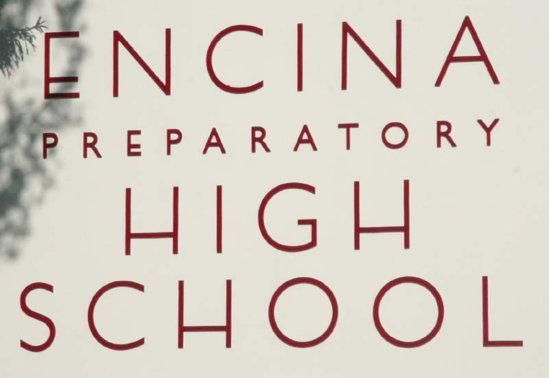 New sign for Encina Preparatory High School
