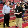 Steve Palmer '74 and David Levis (Encina student activities director) go over schedule