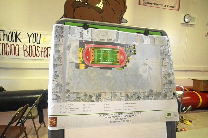 Plans for Encina's proposed football stadium!<br /> To be funded by bond measure?<br /> No lights