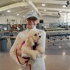 Kathie Rayfuse Calcidise 63 (past hall of fame) and her cute companion