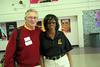 Peter Boam 63 with principal Myrtle Berry, who's retiring after this school year