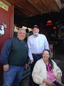 Alan Ruggles '84, Bill '64 and Marcia Hanson