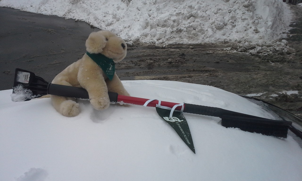 Topper helps clear snow on campus