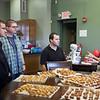 Br. John Mark Falkenhain, OSB, Br. William Sprauer, OSB, and the monastery novices prepared over 700 pretzels for the beer tasting social on Tuesday of the Alumni Reunion.