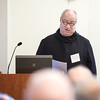 "Fr. Denis Robinson, OSB, talked about ""Spotlight; The Church in the Aftermath of the Sexual Abuse Crisis."""