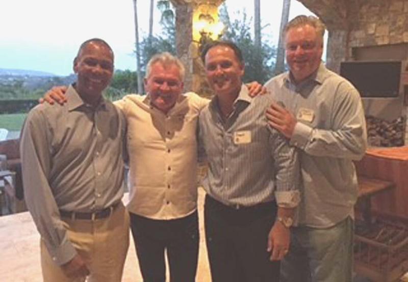 From left: Armando Jackson '75, Kieron Foley '74, Gordy Ceresino '75 and Steve McKenna '75.