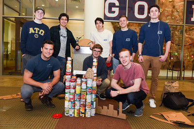 CANstruction and popcorn with Senior Leaders