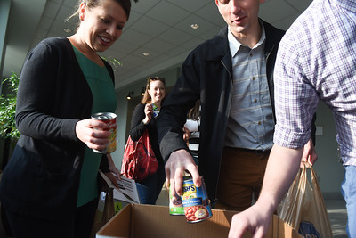 Cans for Second Harvest food bank
