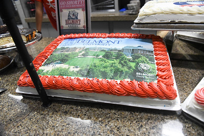 Printing Belmont themed images on custom cakes with our new food printer