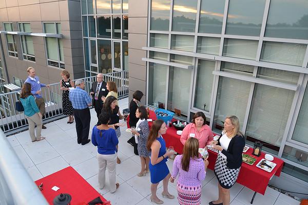 Alumni Society Board Dinner on Green Roof