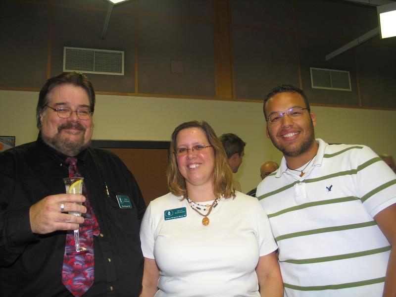 Peter Brunette, Andrea Sbona, Gene Martin (U.S.S.B. Rep. & Junior Class President)